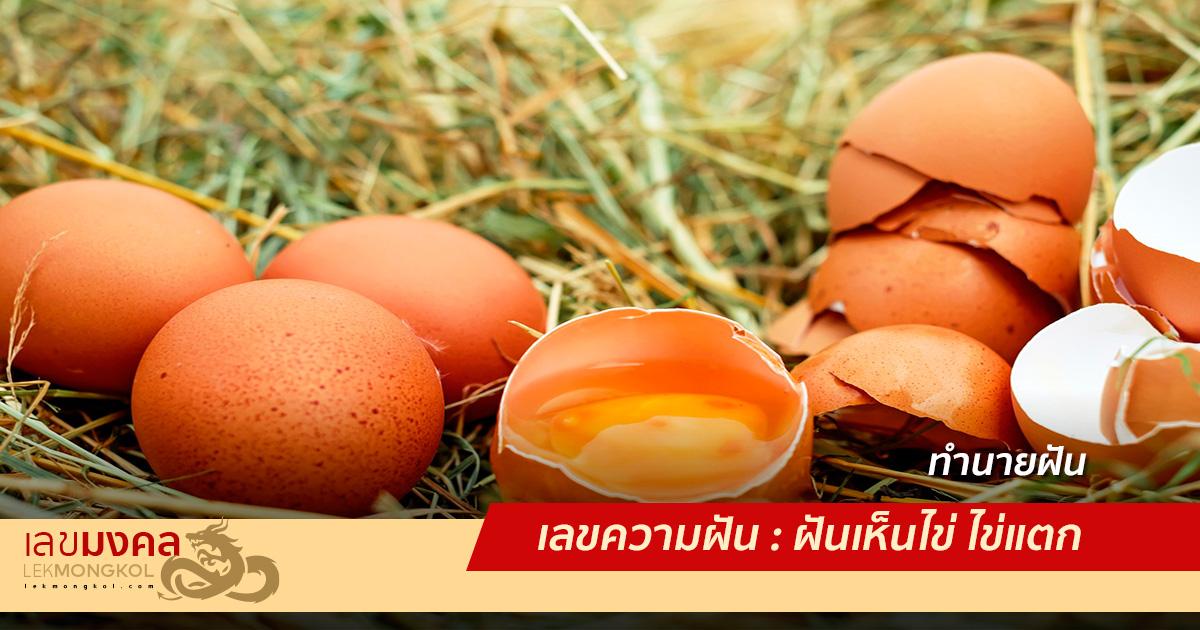 เลขความฝัน : ฝันเห็นไข่